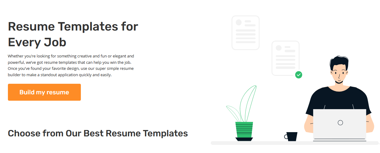 Different models and designs of Resume templates available online