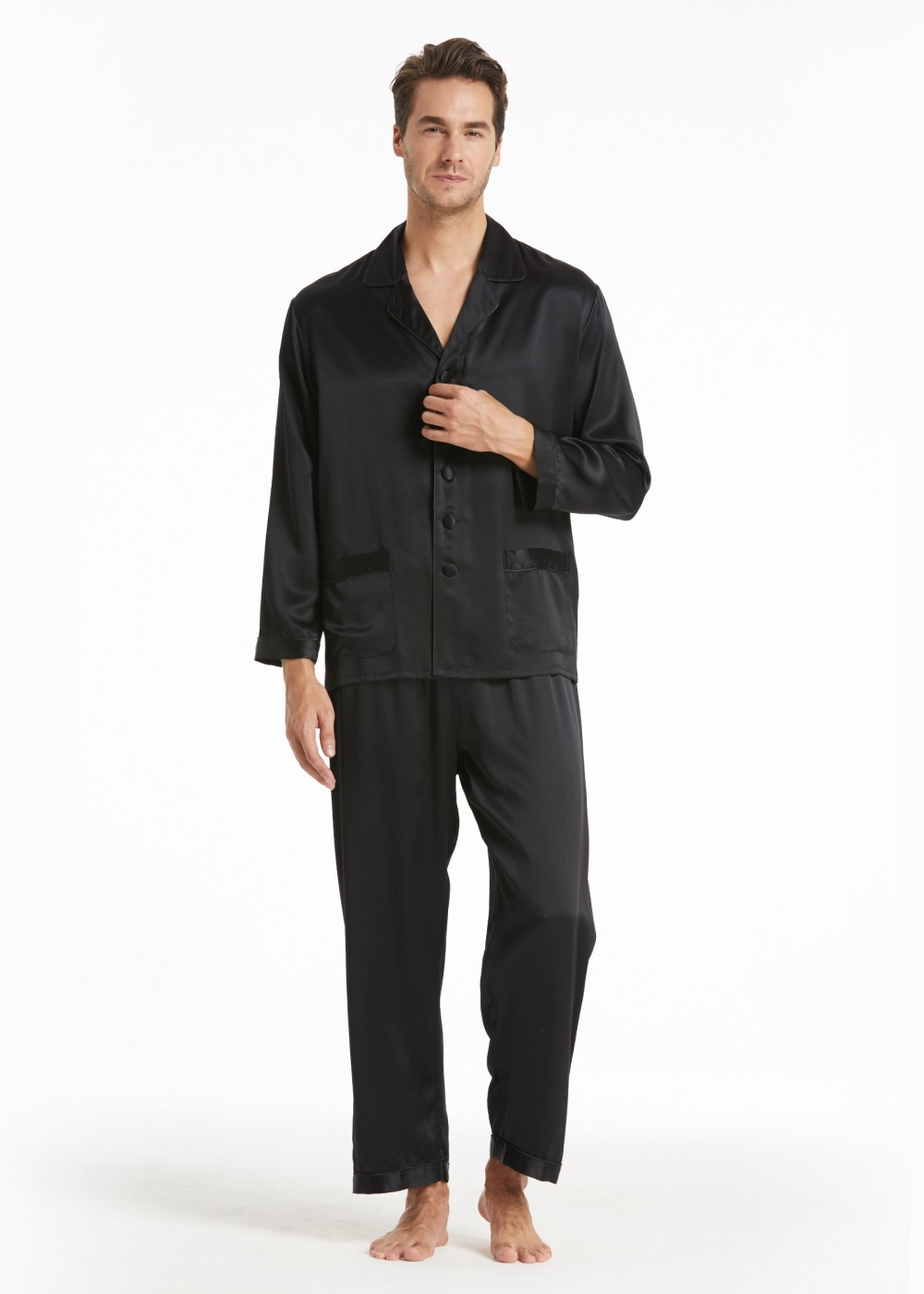 Trending Mens Silk Pajamas